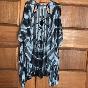 O'Neill blue tie dye cover-up (pre-owned)